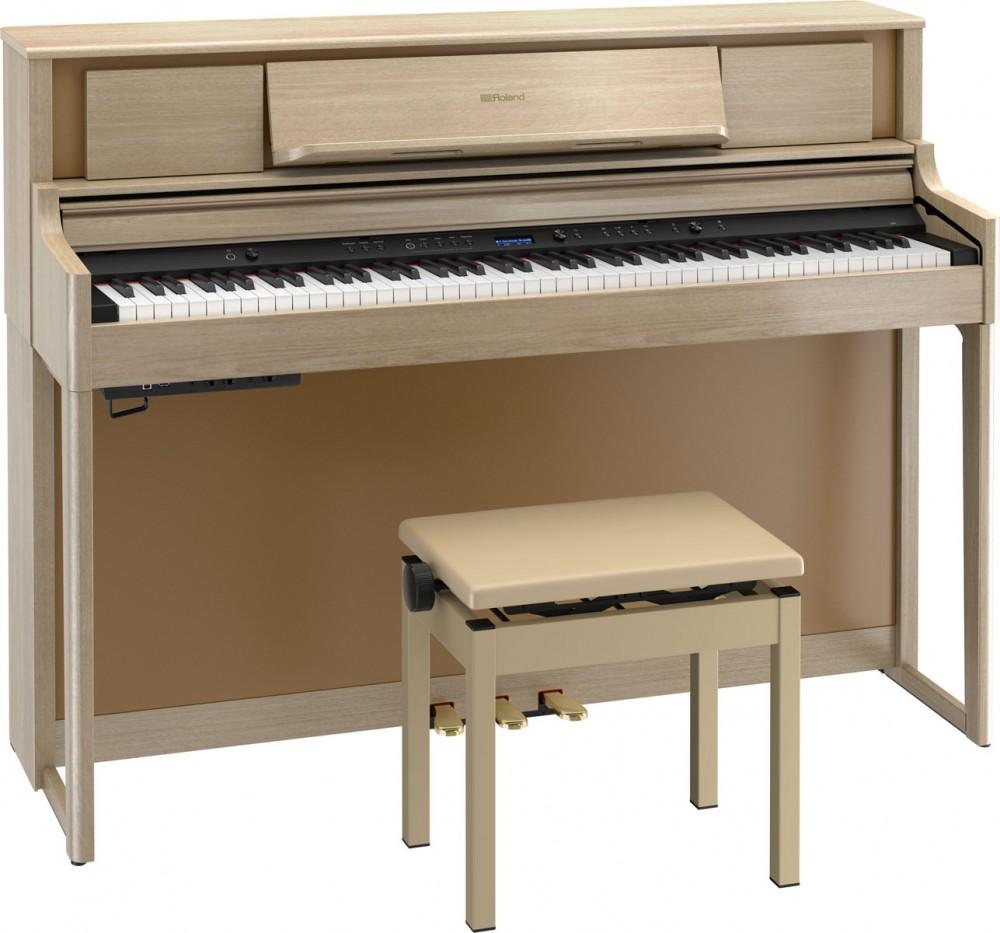 Roland LX705 淺木色連凳